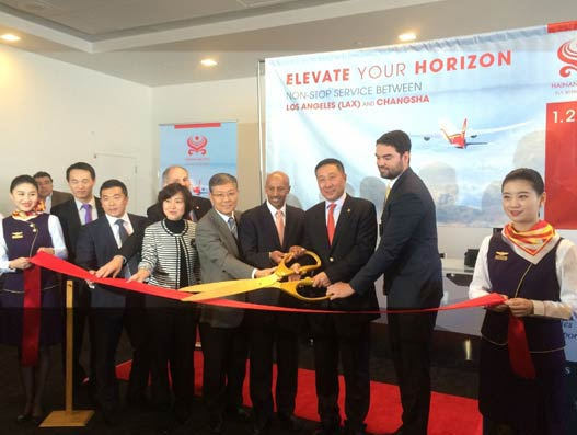 Hainan Airlines launches non-stop service between Changsha-Los Angeles