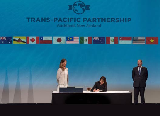 Peru's Foreign Trade and Tourism Ministry signs the Trans-Pacific Partnership to boost exports