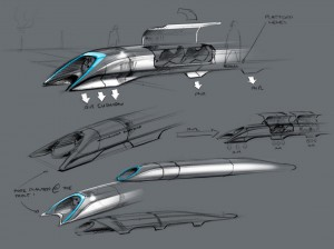 Elon Musk's original Hyperloop sketch